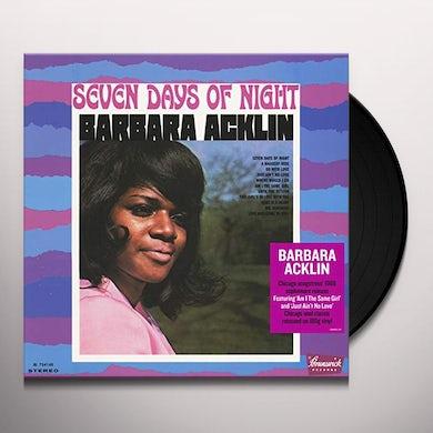 Barbara Acklin SEVEN DAYS OF NIGHT Vinyl Record