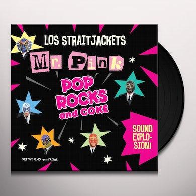 Los Straitjackets MR PINK B/W POP ROCKS Vinyl Record